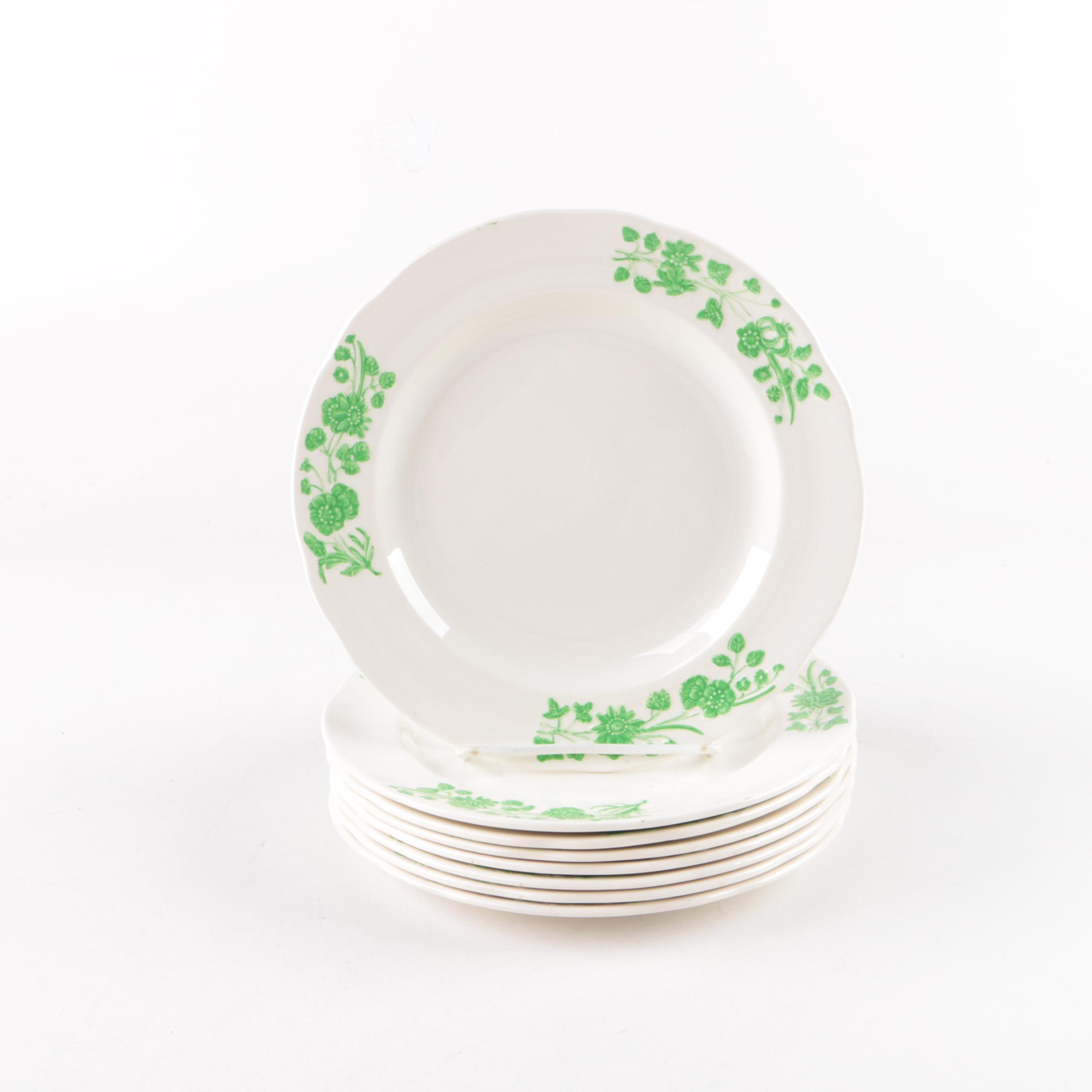 "Copeland Spode ""Shamrock"" Porcelain Plates"