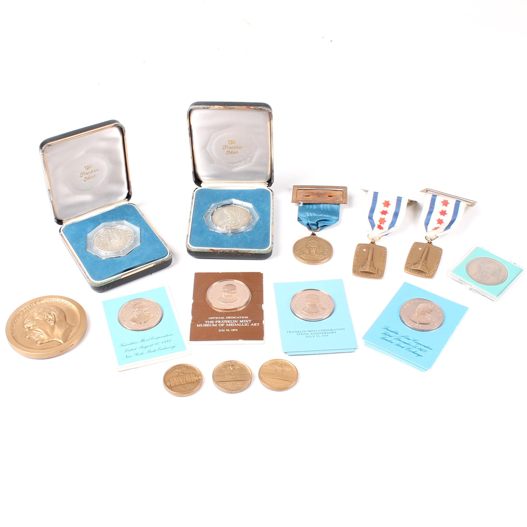 Commemorative Medals Featuring the Franklin Mint