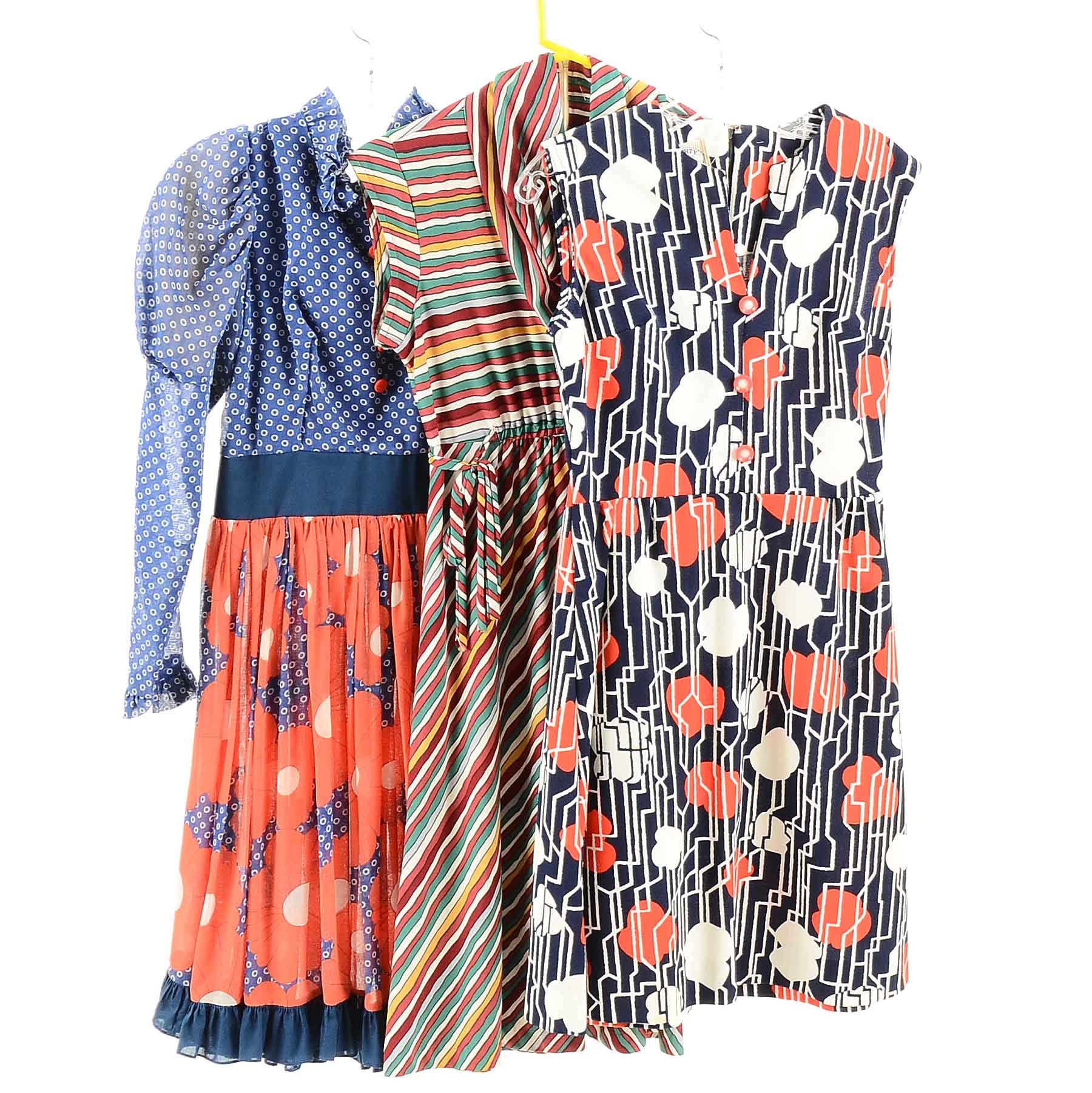 Collection of Colorful Vintage Dresses