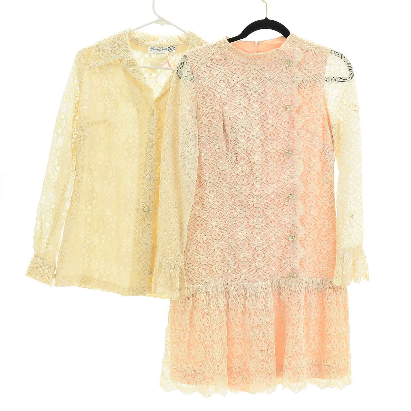 Vintage Lace Jacket and Dress