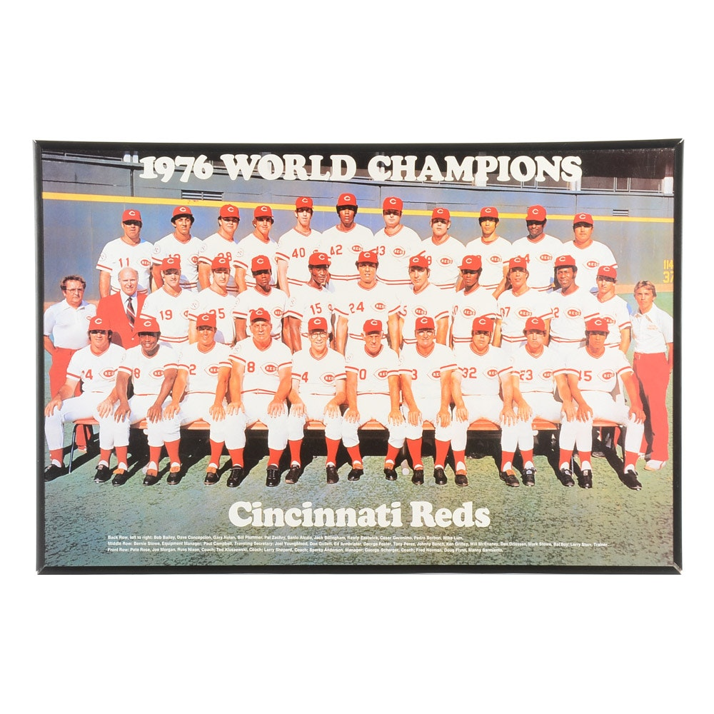 1976 Cincinnati Reds Team Framed Poster