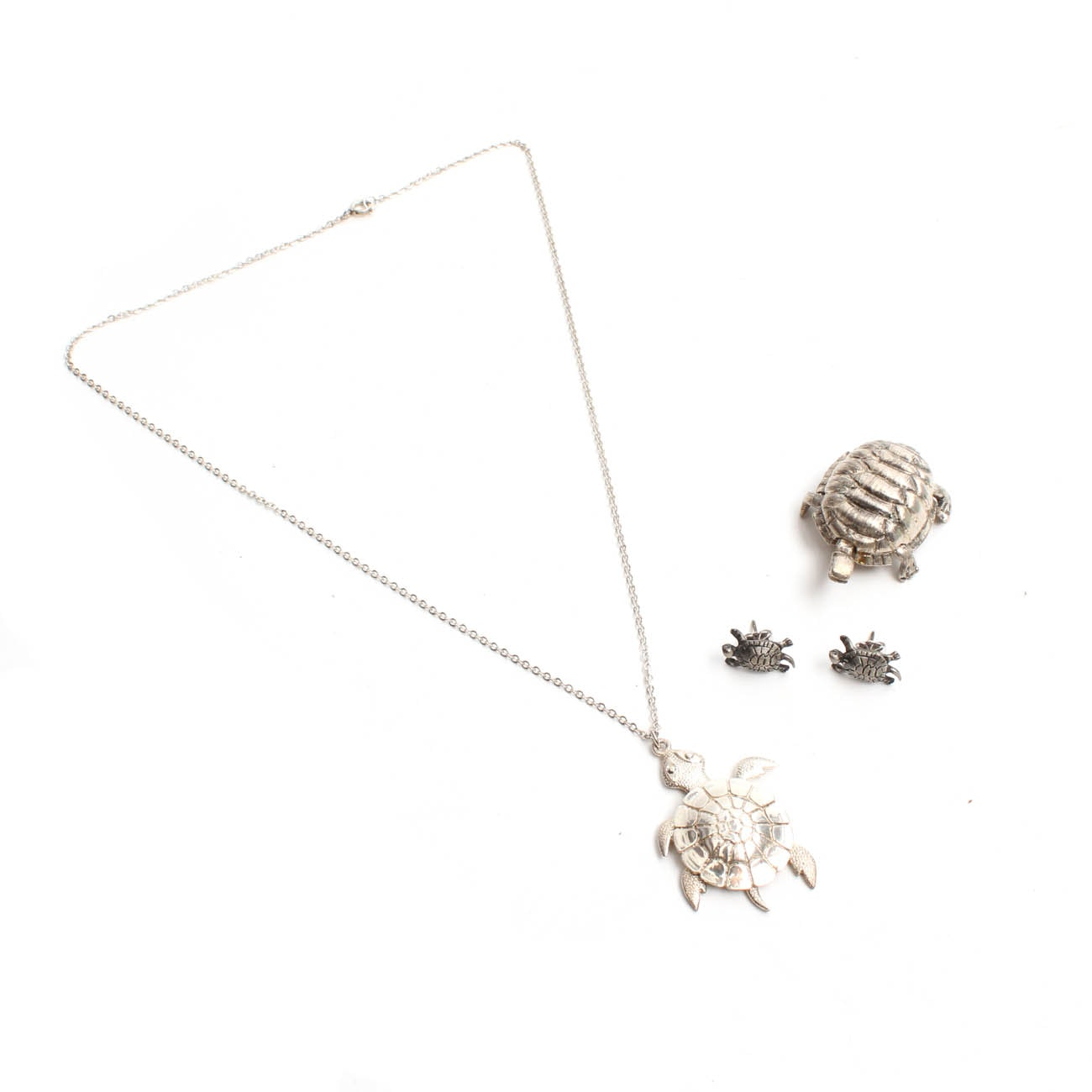 Sterling Silver Figural Turtle Costume Jewelry