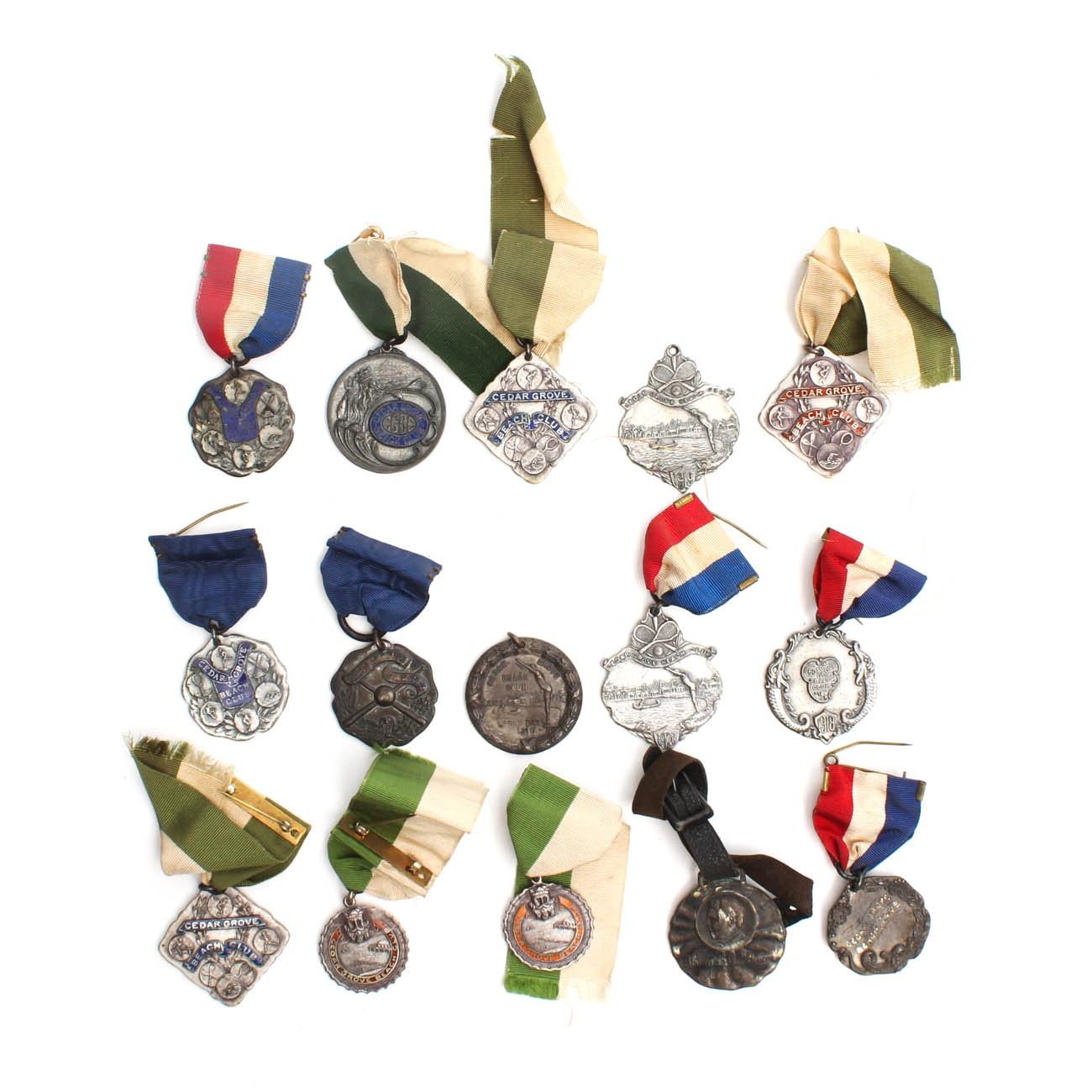 Vintage Sterling Silver Medals