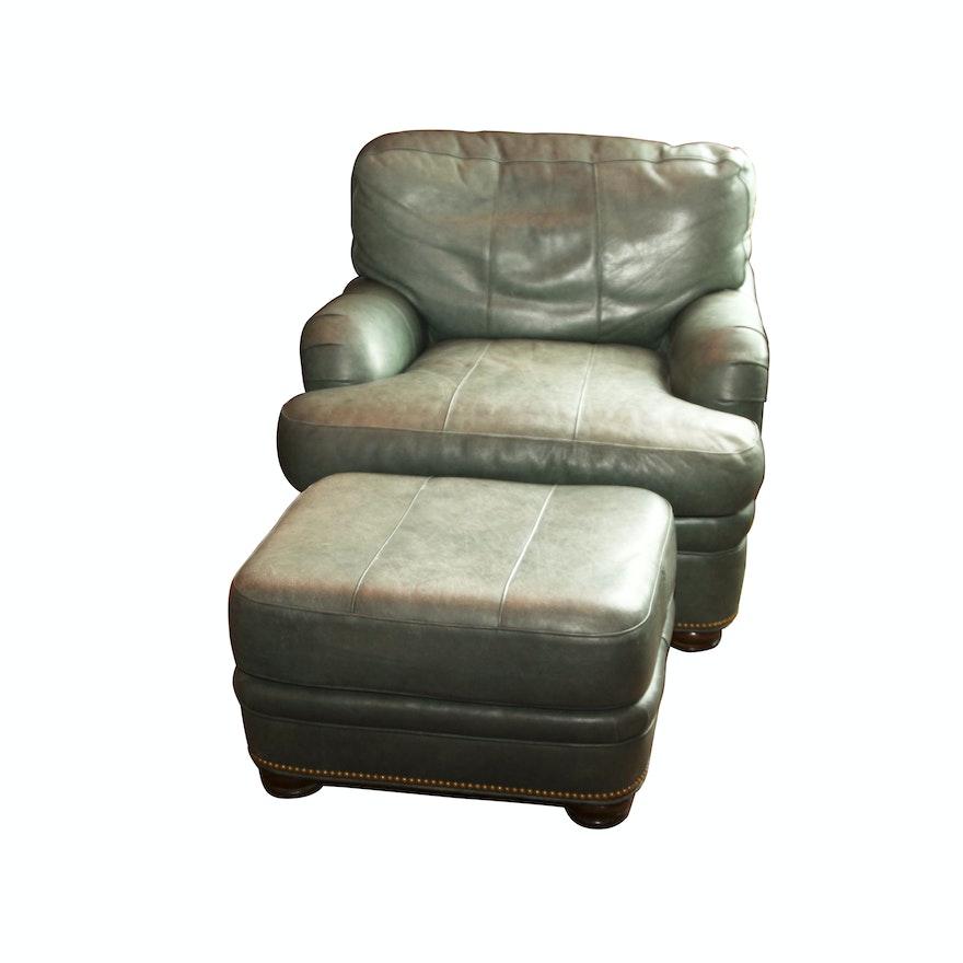 Groovy Hancock Moore Leather Club Chair And Ottoman Creativecarmelina Interior Chair Design Creativecarmelinacom