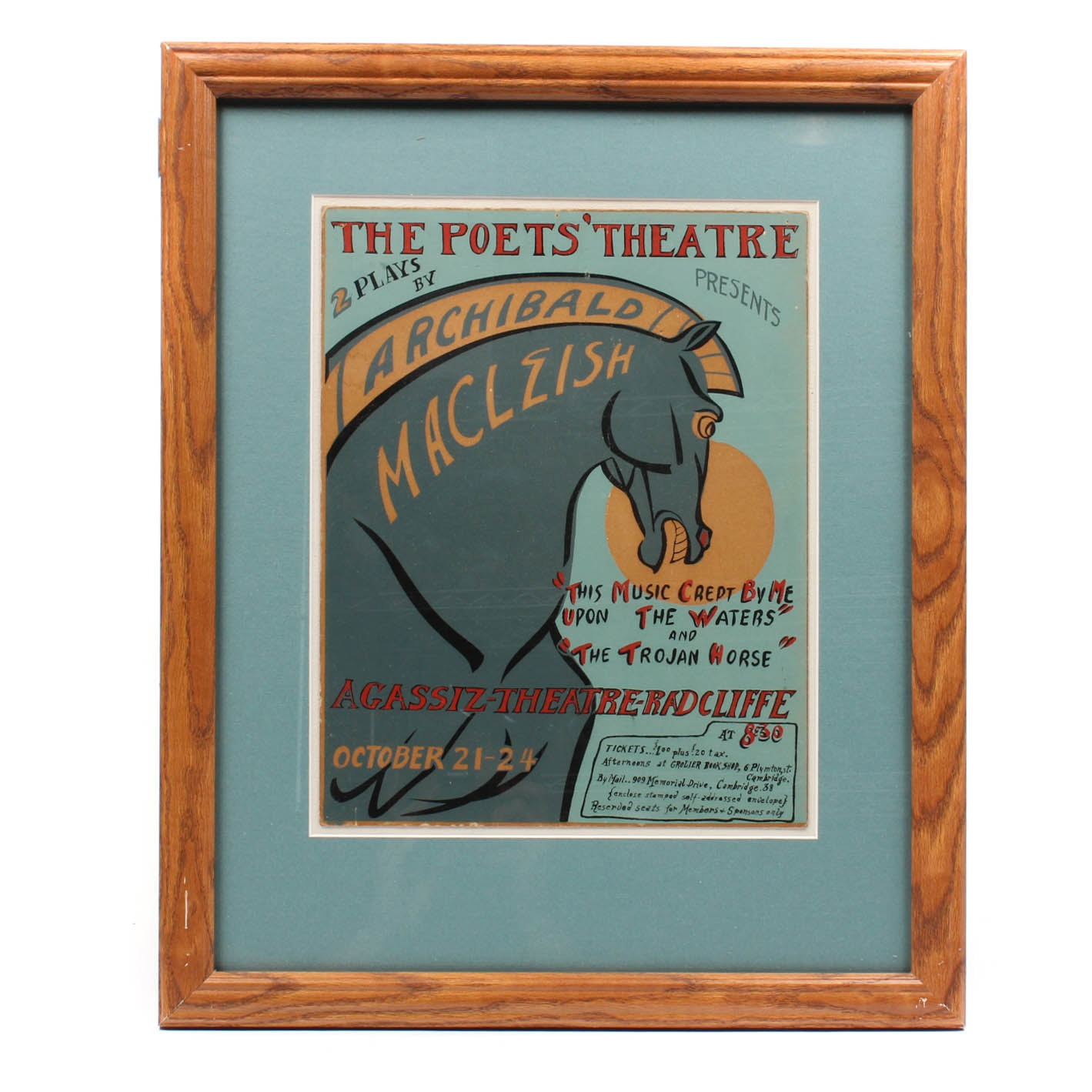 Vintage Poets' Theatre of Boston Poster