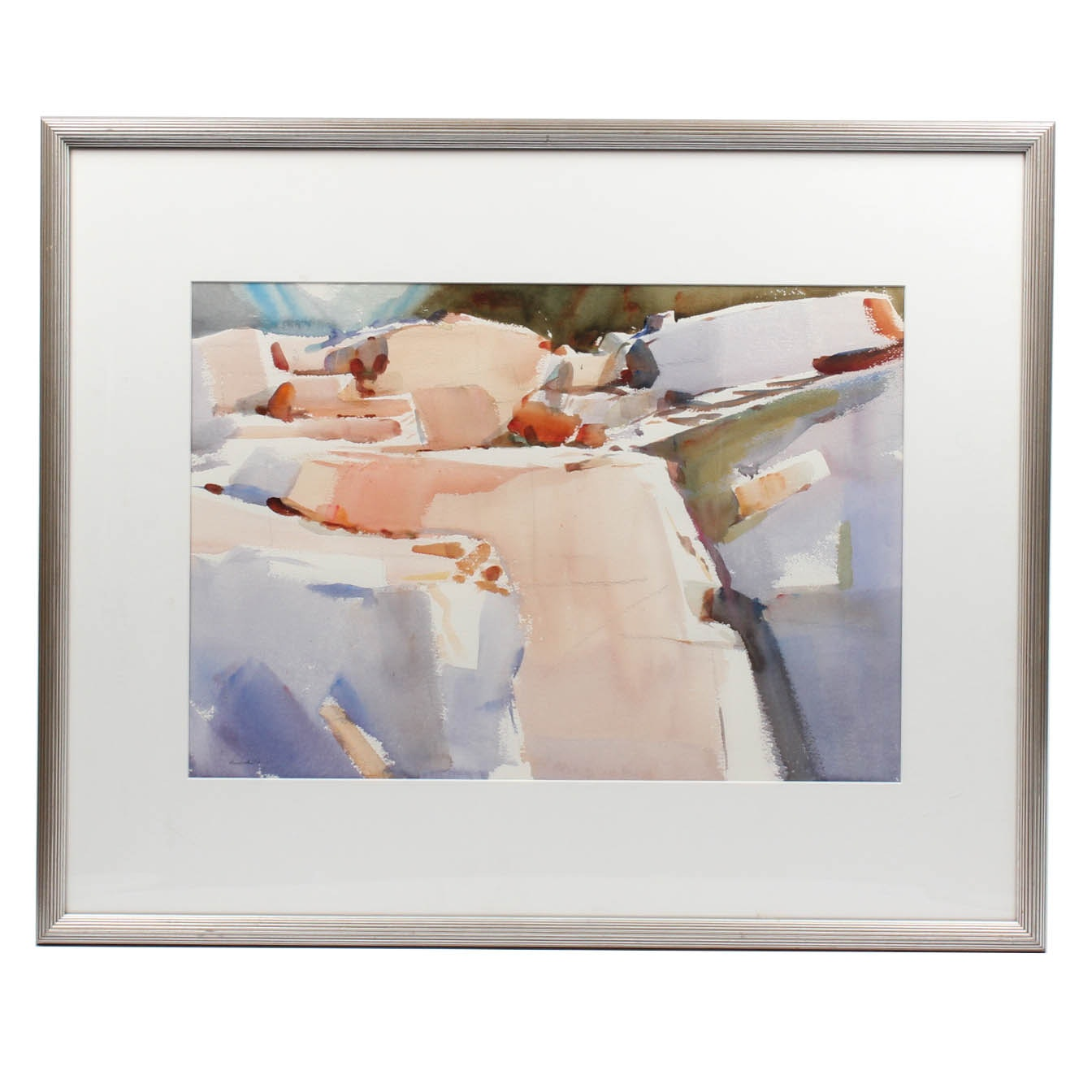 "G. Ralph Smith Signed Watercolor ""Hall's Quarry"""
