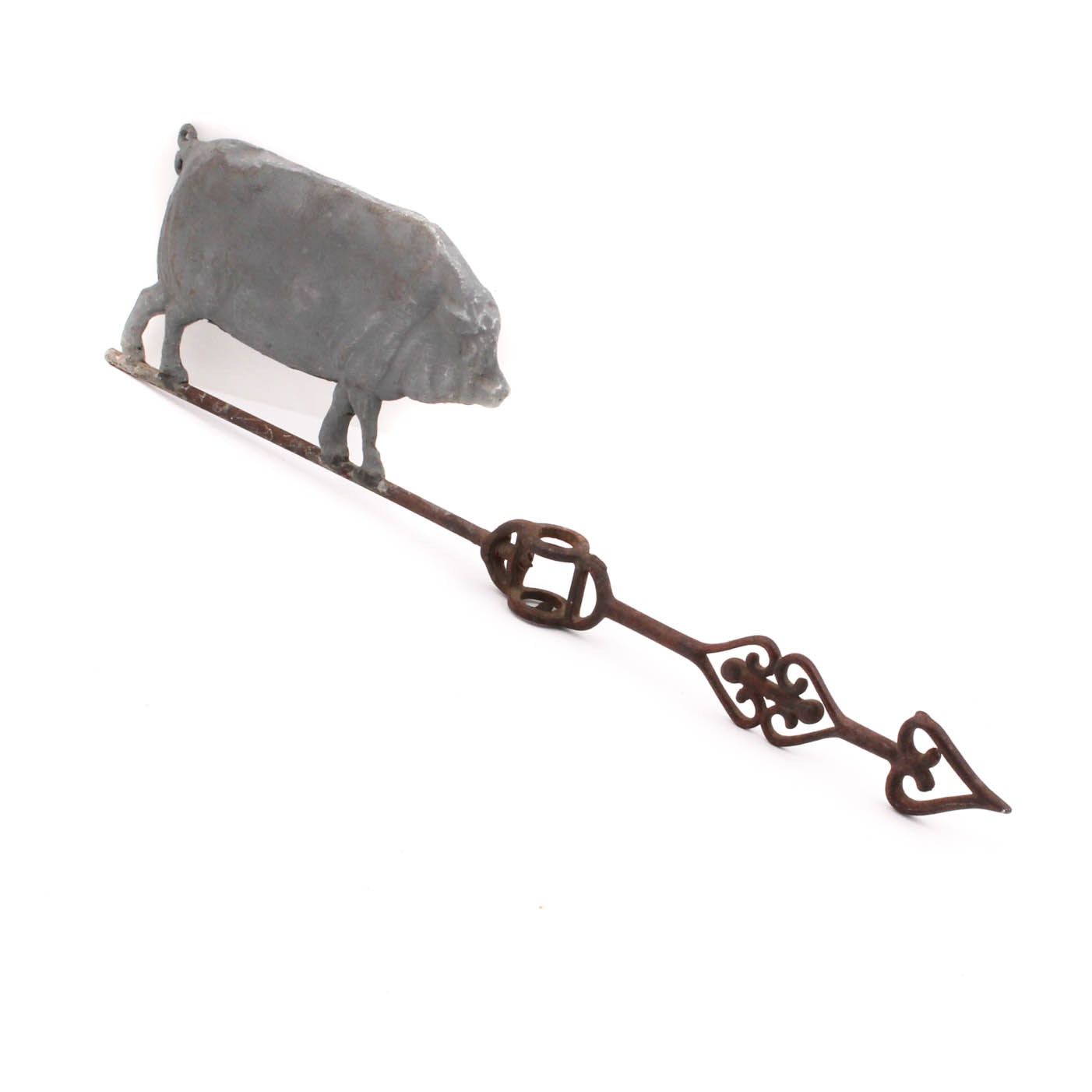 Antique Standing Pig Weathervane with Arrow