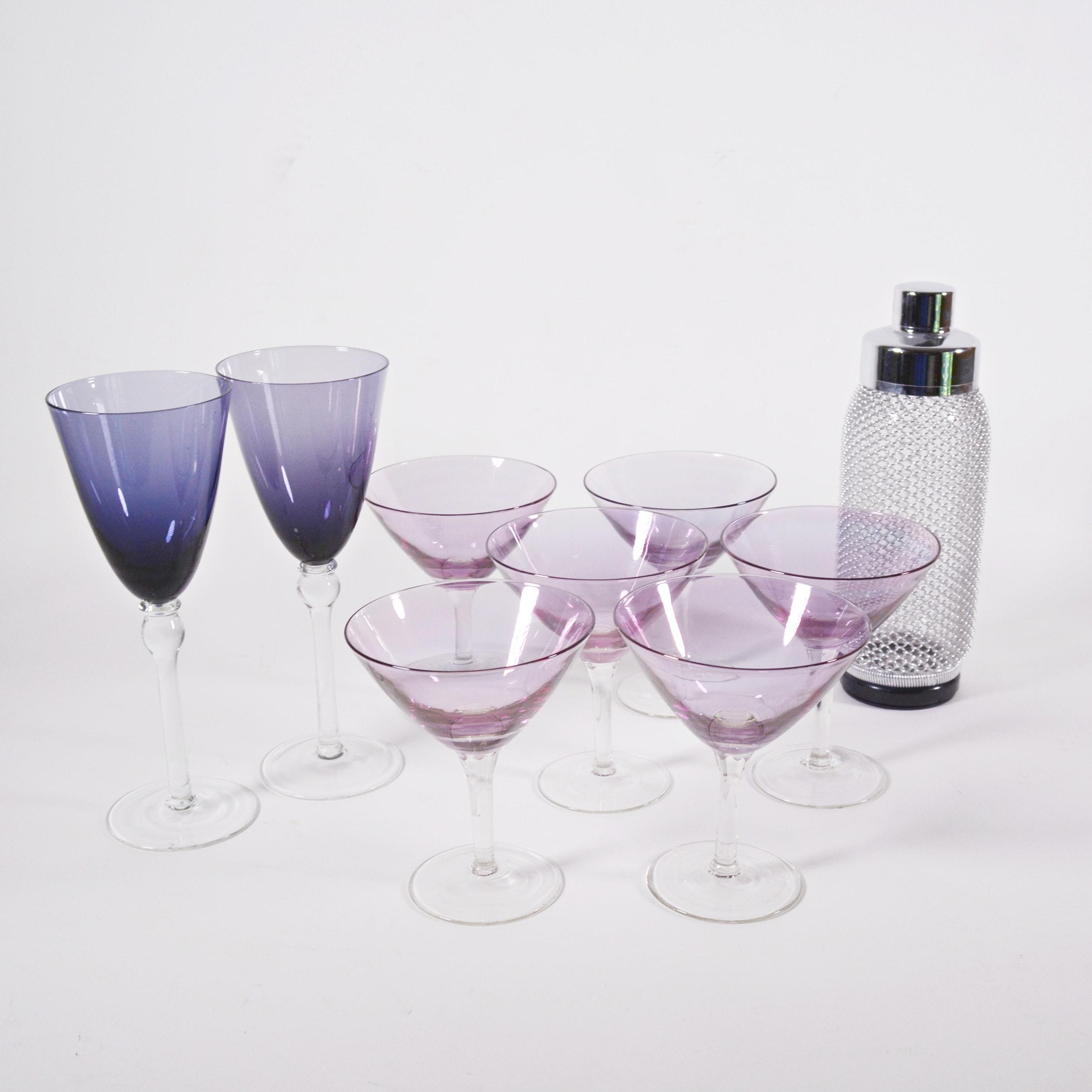Martini Glasses and Shaker