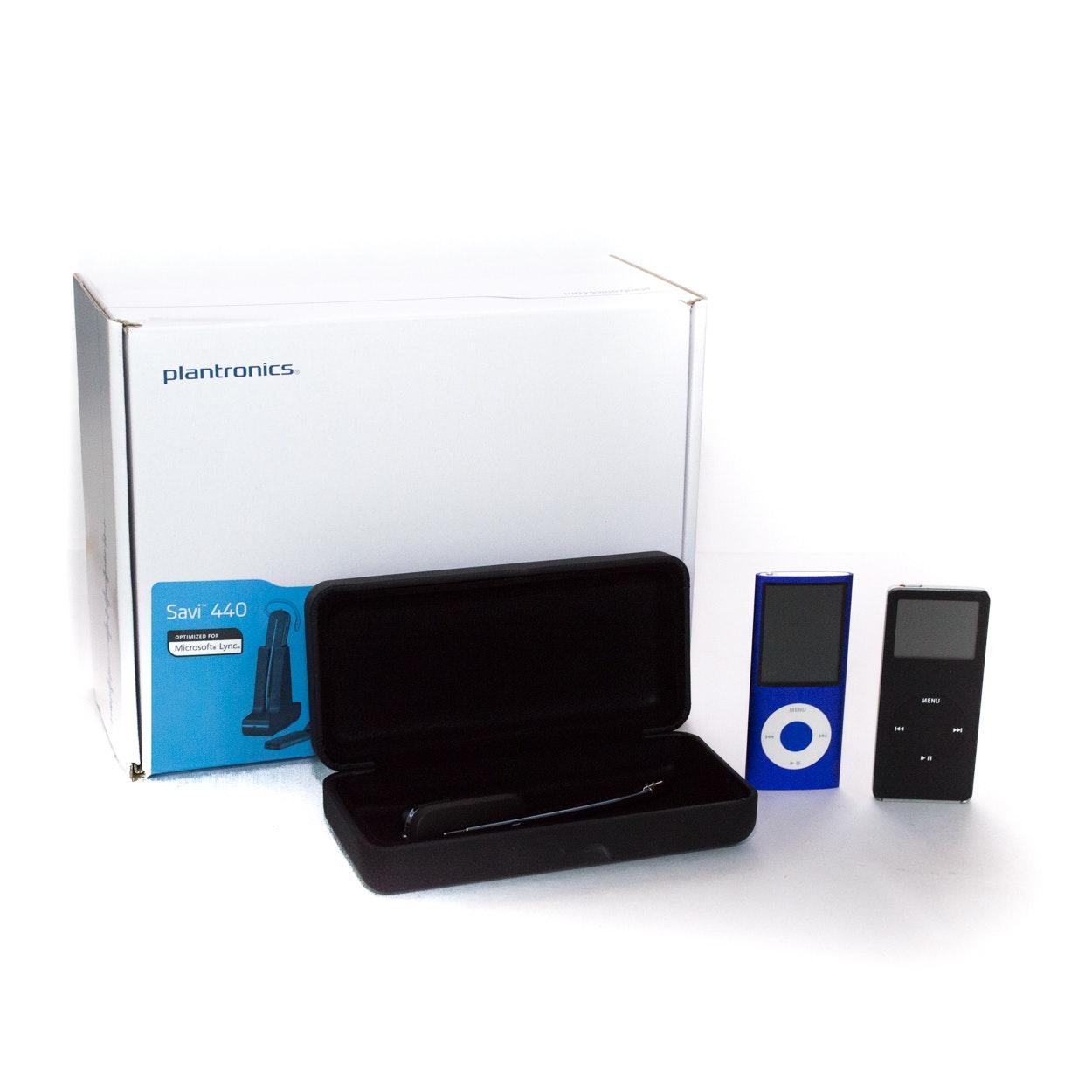 Plantronics Savi Wireless Headset System and iPods