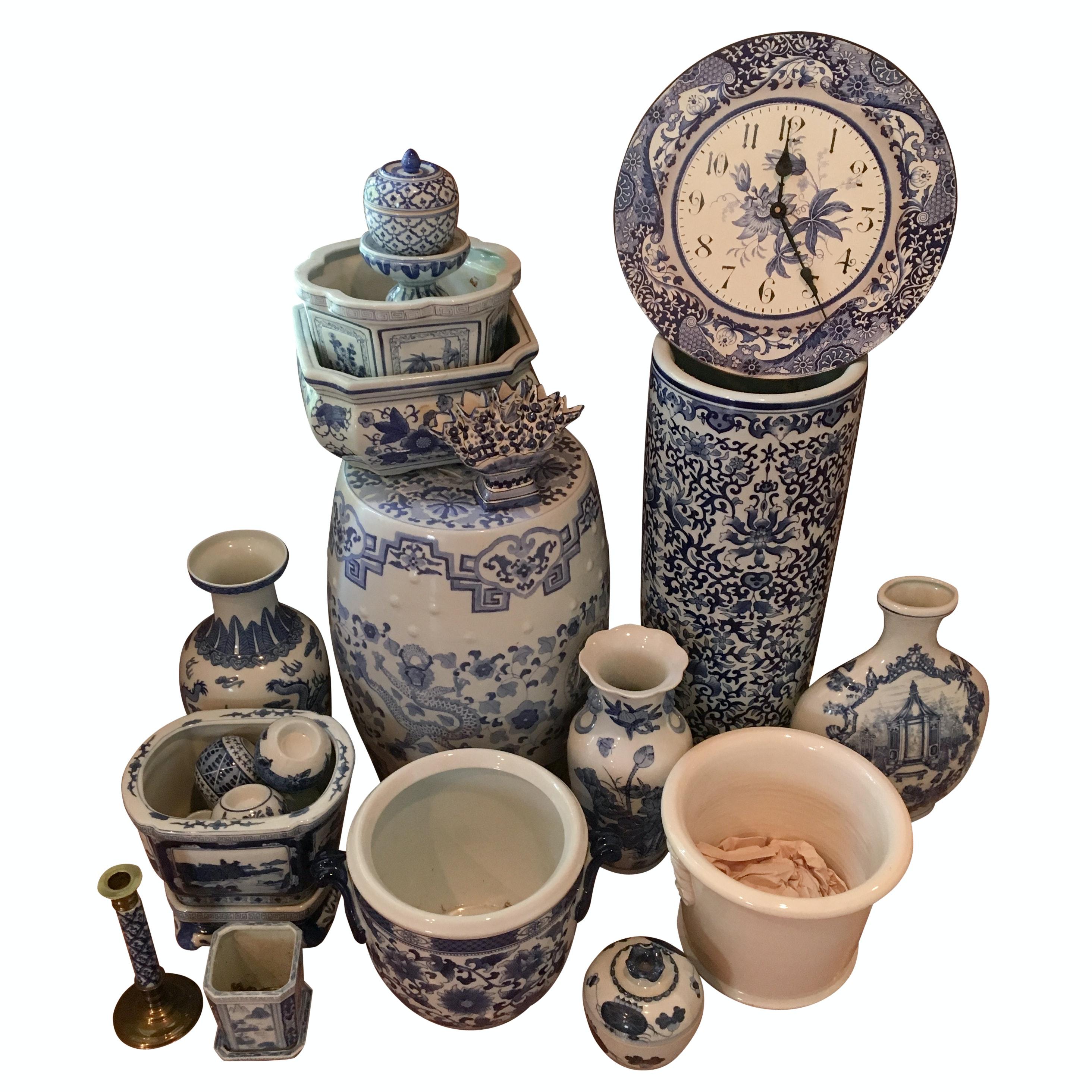 Blue and White Ceramic Decor