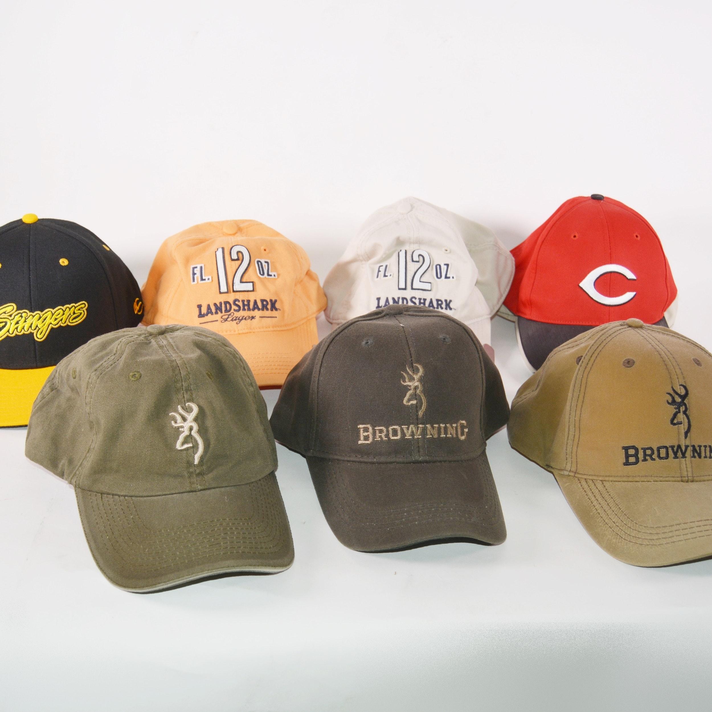 Eight Baseball Style Caps