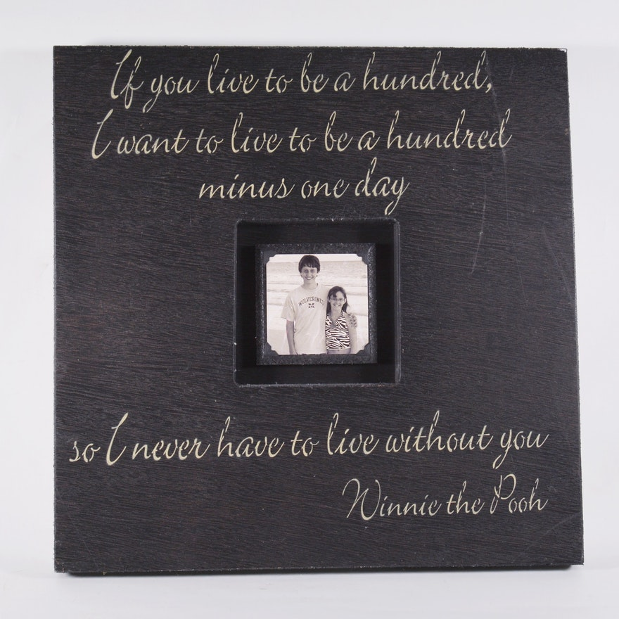 Winnie The Pooh Quote Frame Ebth