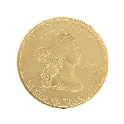 2007-W First Spouse Thomas Jefferson's Liberty $10 Gold Bullion Coin
