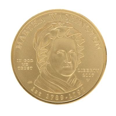 2007-W First Spouse Martha Washington $10 Gold Bullion Coin