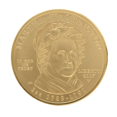 2007-W First Spouse Martha Washington $10 Gold Bullion Coin