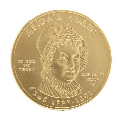 2007-W First Spouse Abigail Adams $10 Gold Bullion Coin