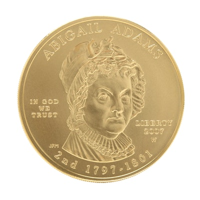2007-W First Spouse Abigail Adams $10 Gold Bullion Coin
