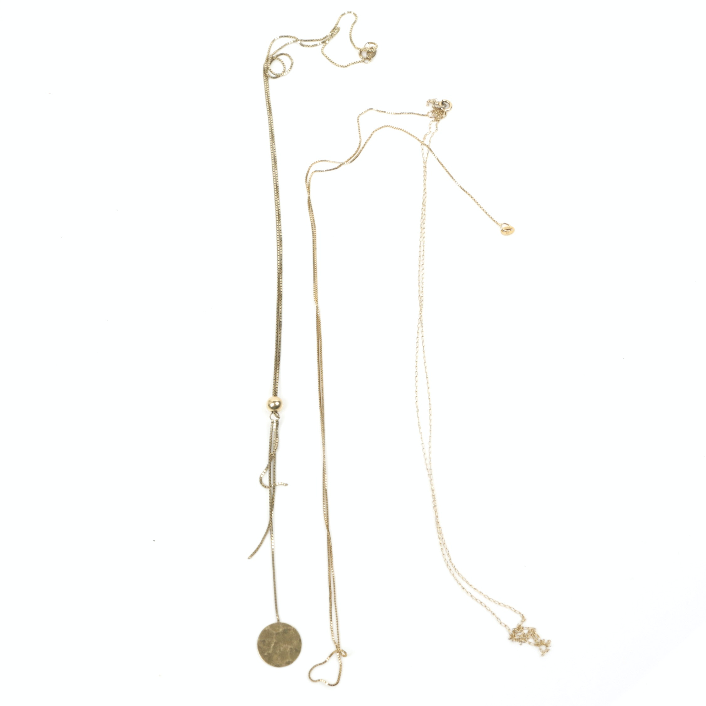 14K and 10K Yellow Gold Chain Necklaces
