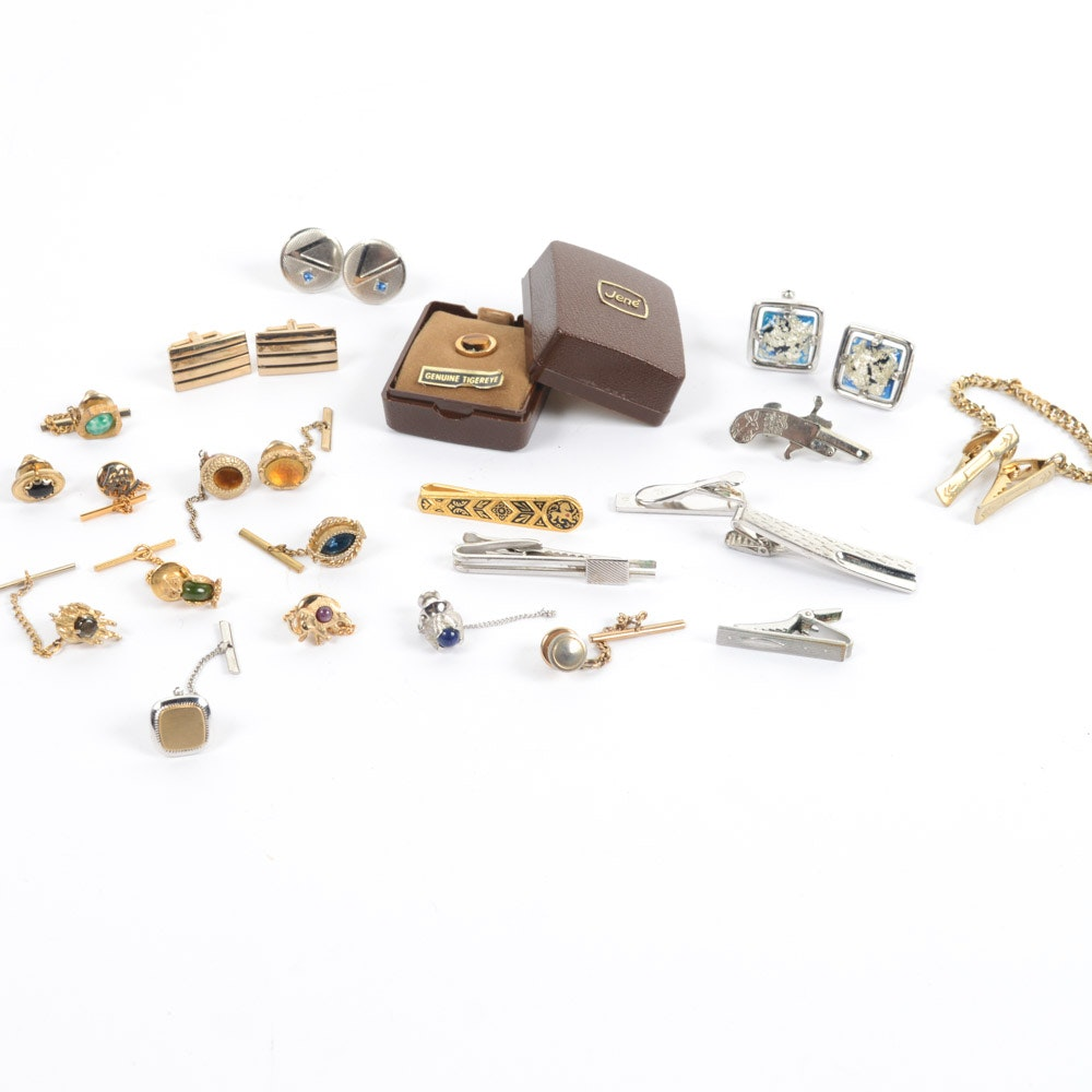 Vintage Cufflinks, Tie Clips, Tie Tacks, and Pins