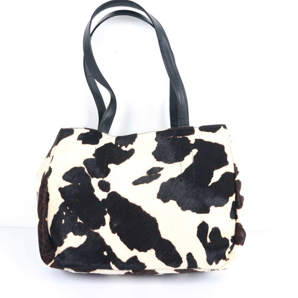 Banana Republic Cow Hide and Leather Handbag