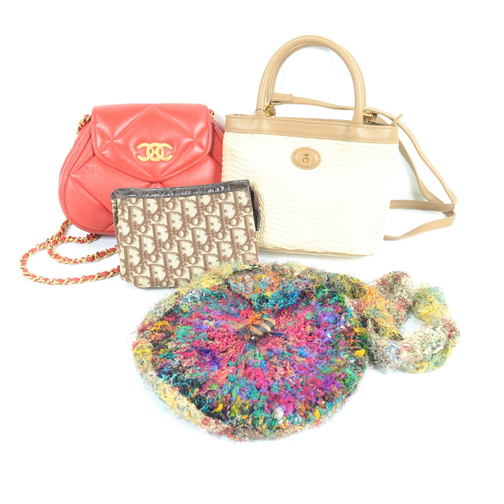 Handbags and Cosmetic Pouches Including Vintage Christian Dior
