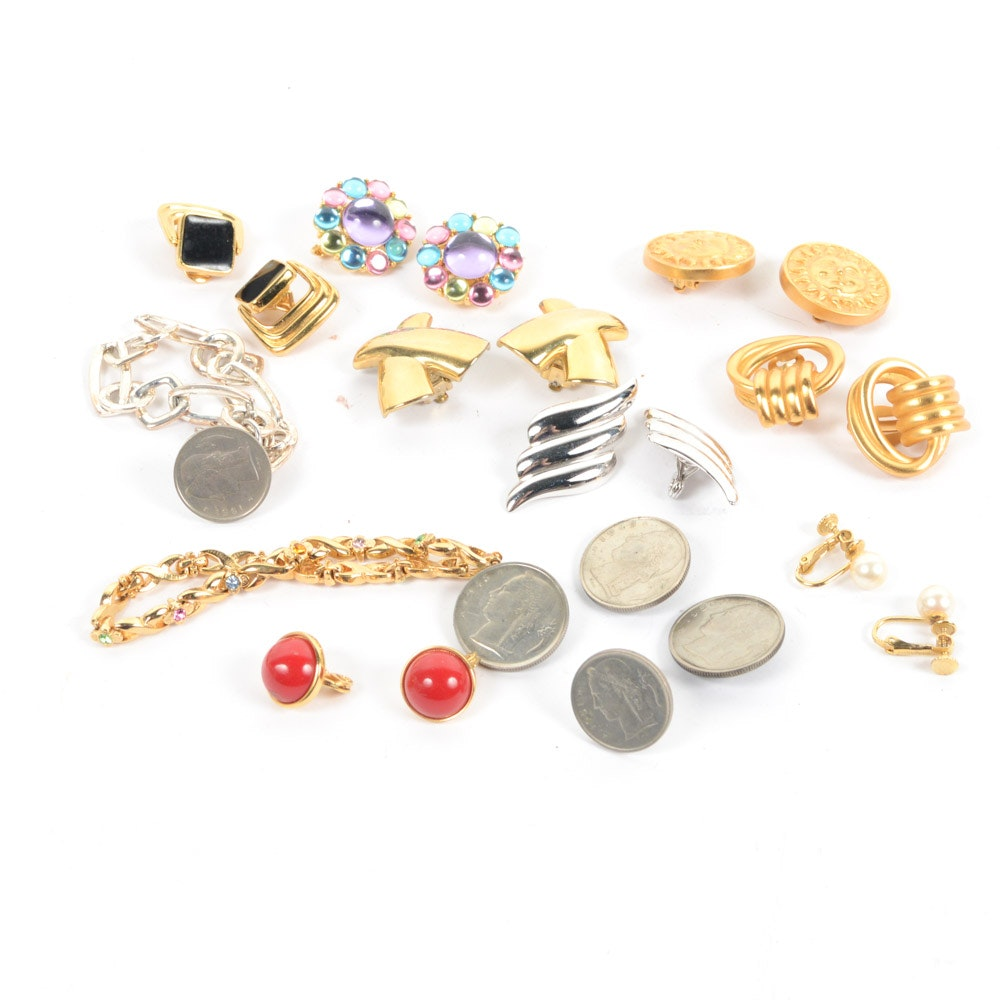 Vintage Jewelry Featuring Trifari, Monet, and More