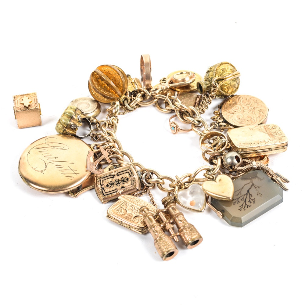 Vintage Bracelet with Antique and Vintage Charms