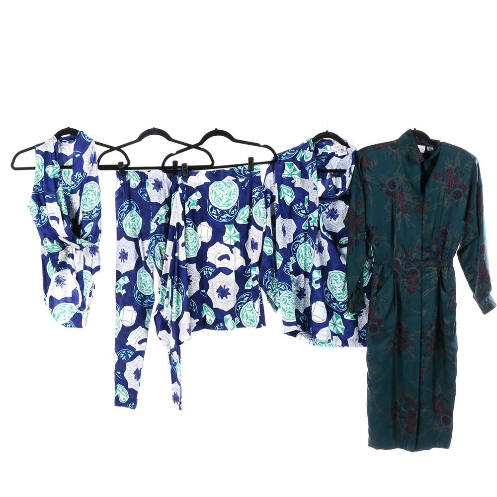 Women's Vintage Austin Reed Silk Dress and Laurel Four-Piece Set