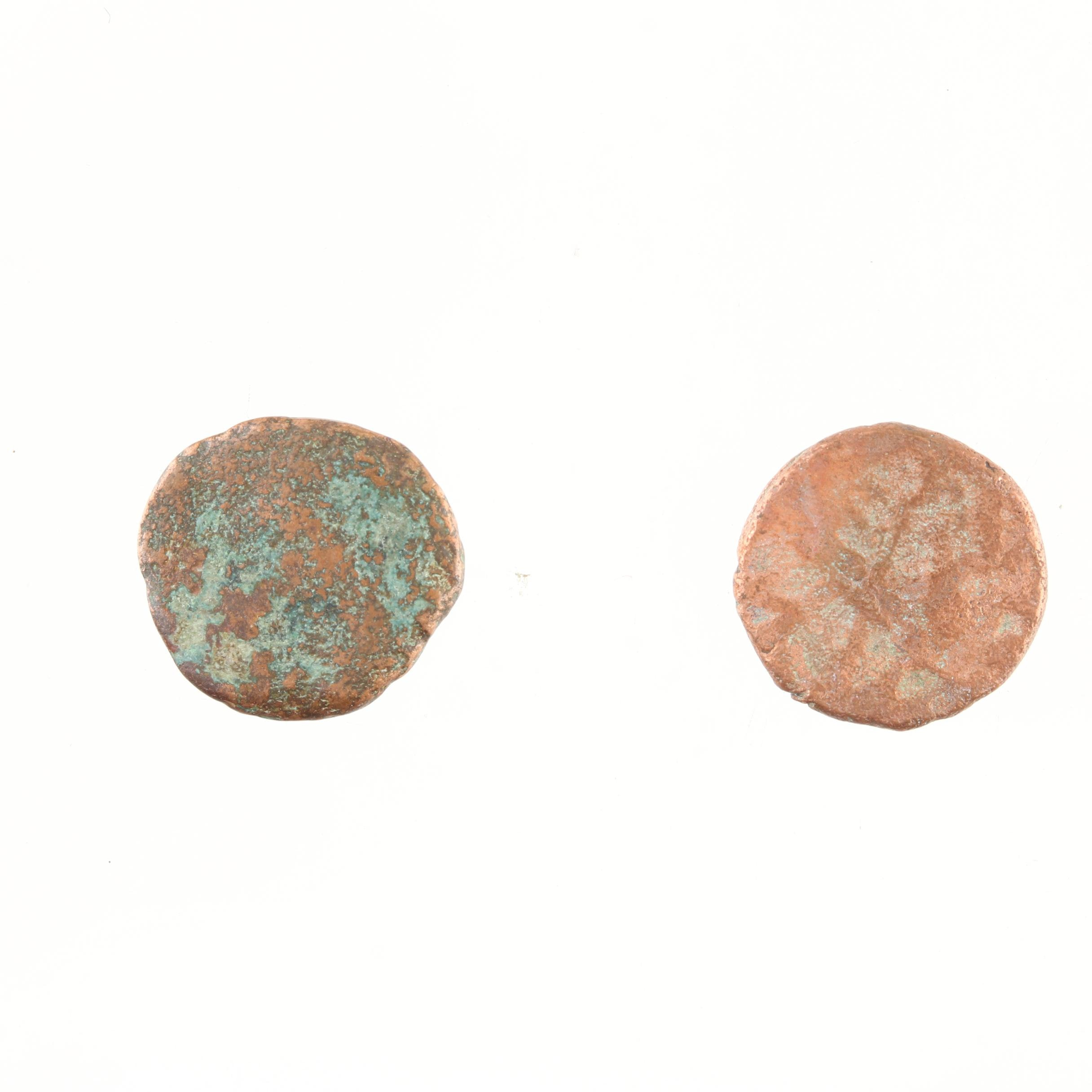 Group of Two Roman Widow's Mite Sized Bronze Coins