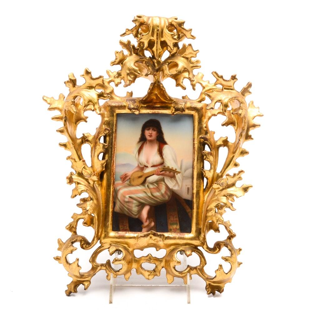 19th Century Italian Porcelain Portrait