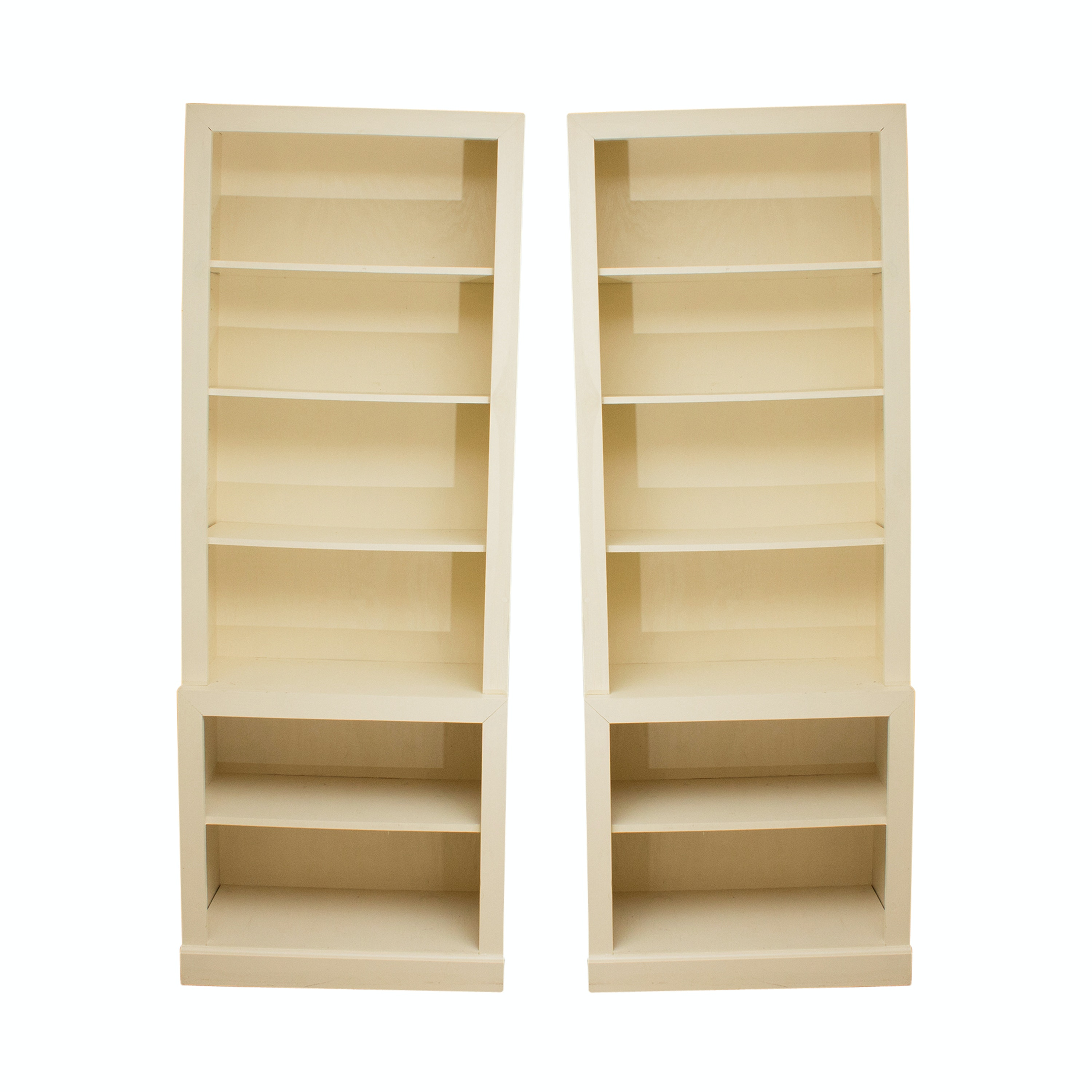 Pair of Wooden Library Bookcases