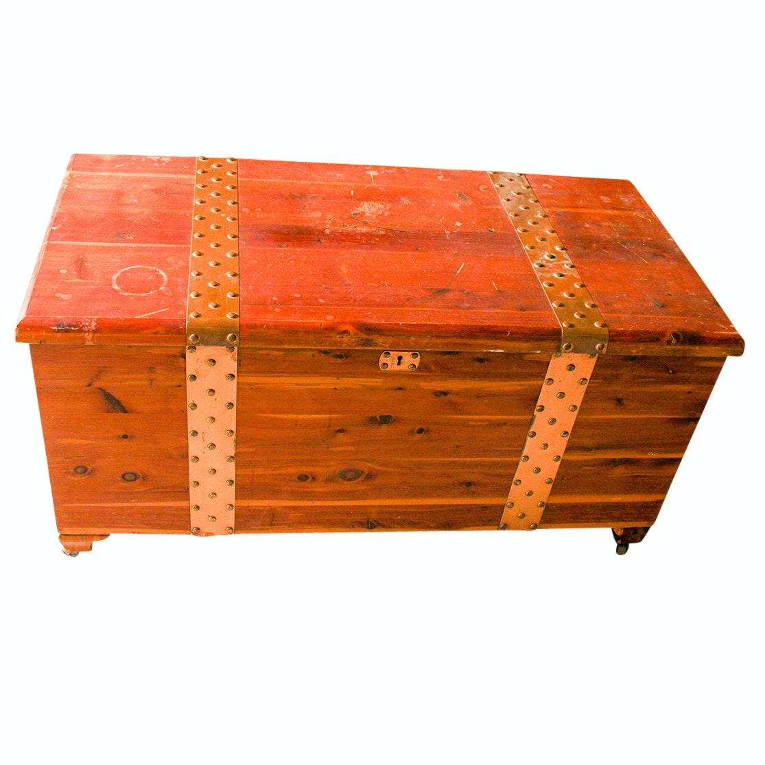 Vintage Cedar Storage Chest