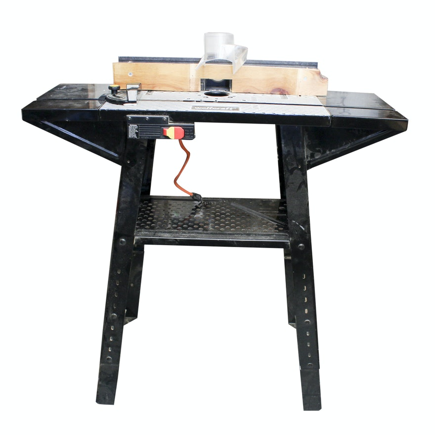 Wolfcraft Router Table With Two Ryobi Attachments