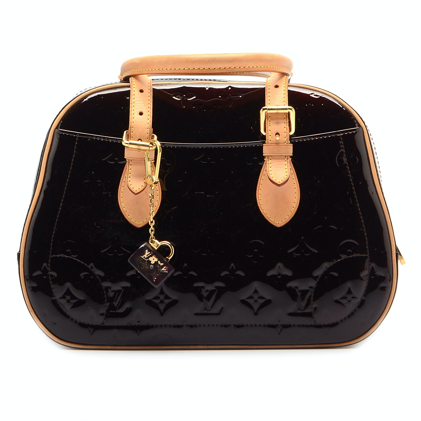 Louis Vuitton of Paris Vernis Summit Drive Amarante Handbag and Coin Case