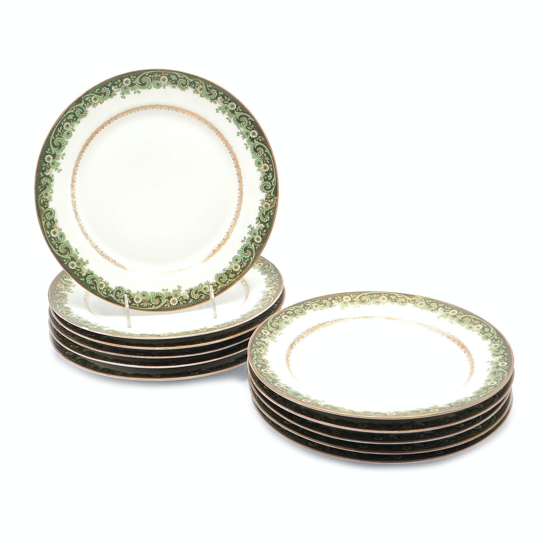 Vintage J. Pouyatt Limoges Porcelain Dinner Plates