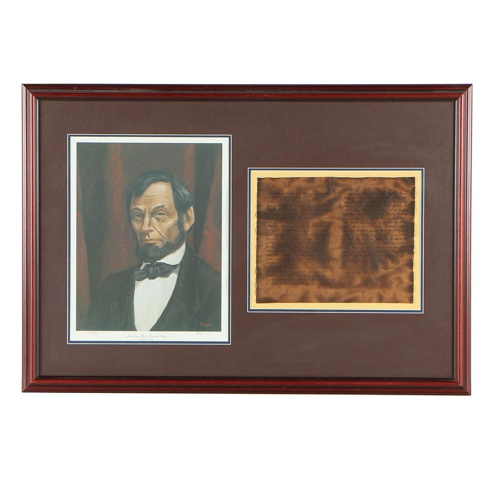 Ray W. Forquer Limited Edition Offset Lithograph of Abraham Lincoln