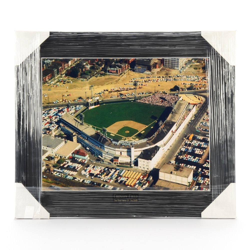 Contemporary Crosley Field Ballpark Framed Display