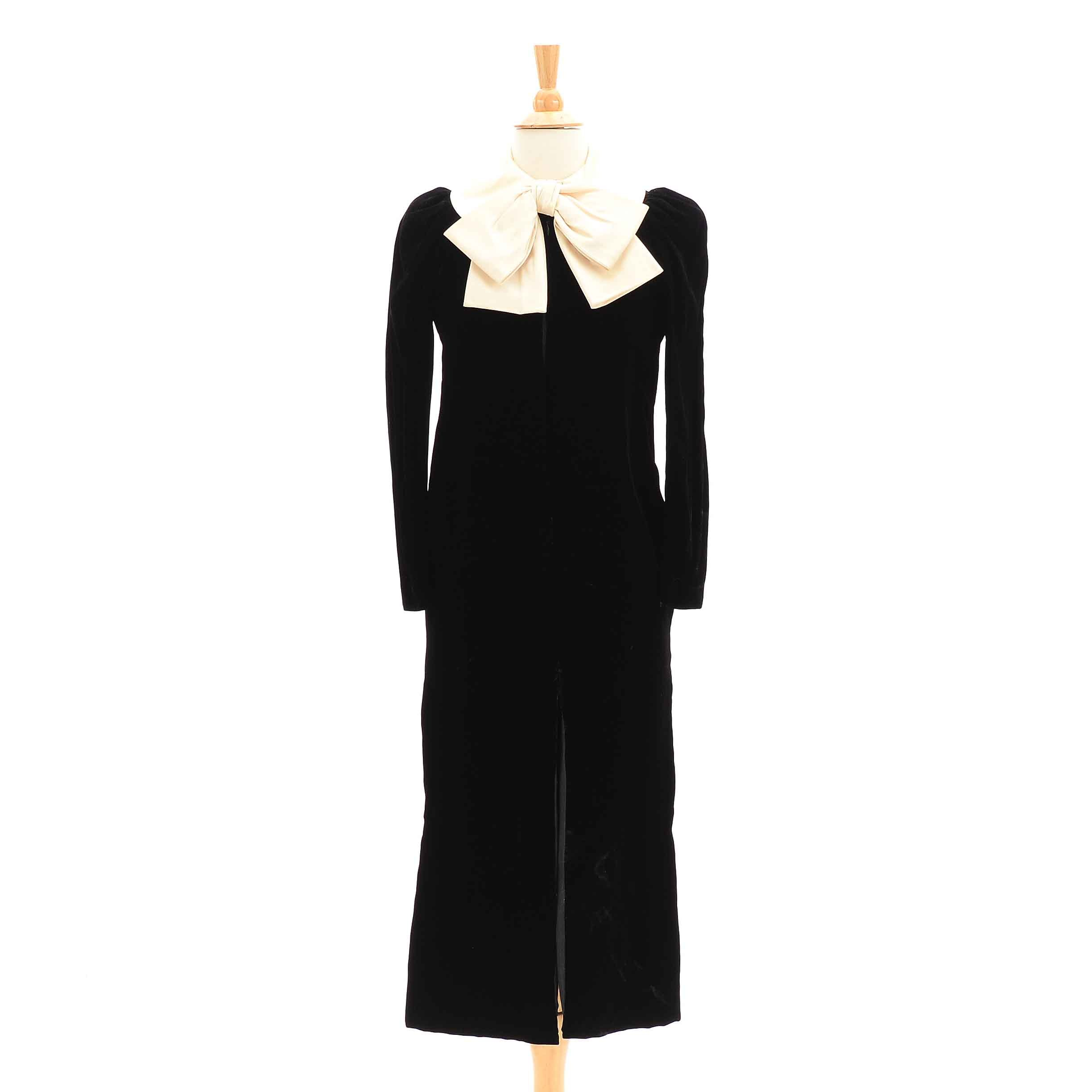 1950s Velvet and Satin Cocktail Dress