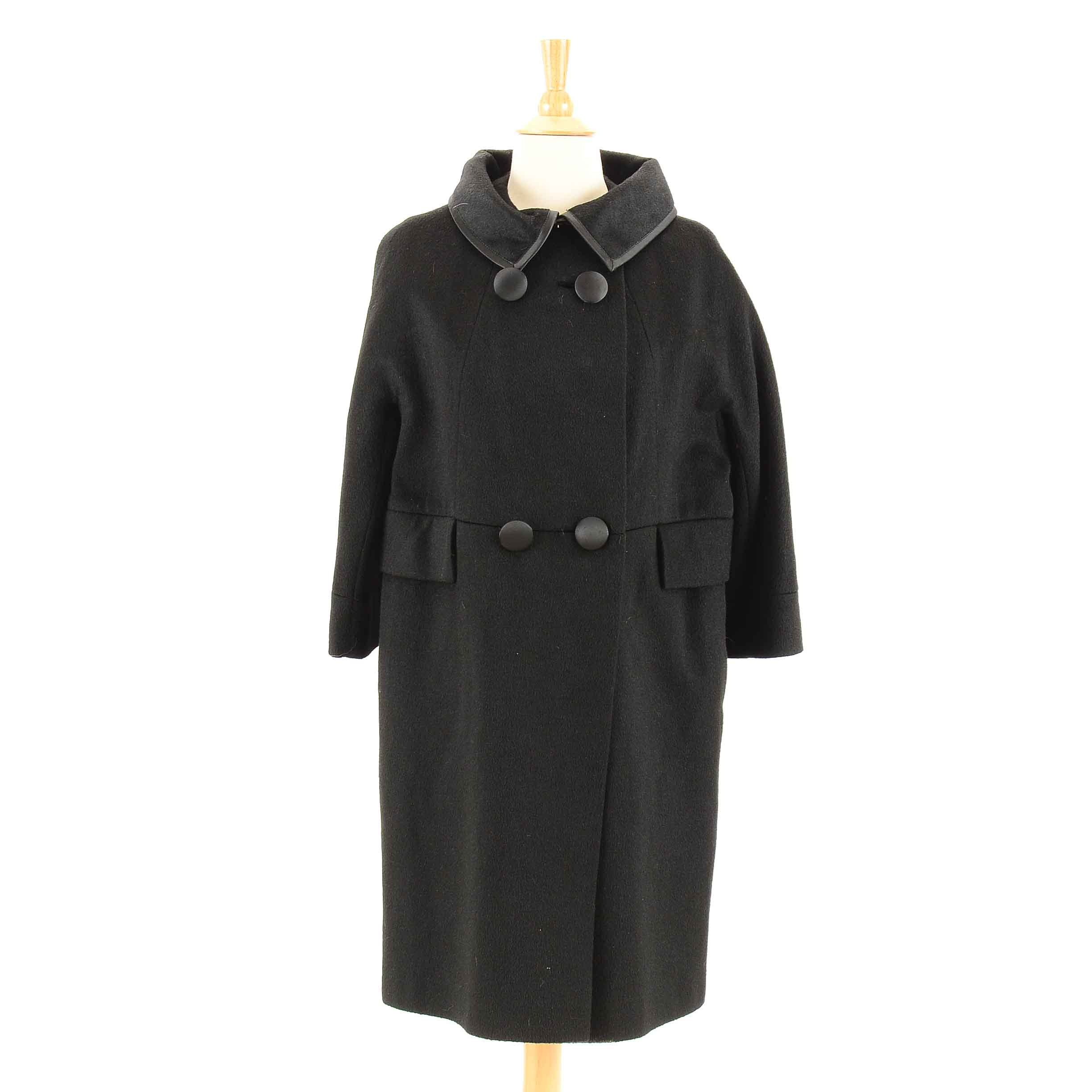 1960s Felted Wool Swing Coat