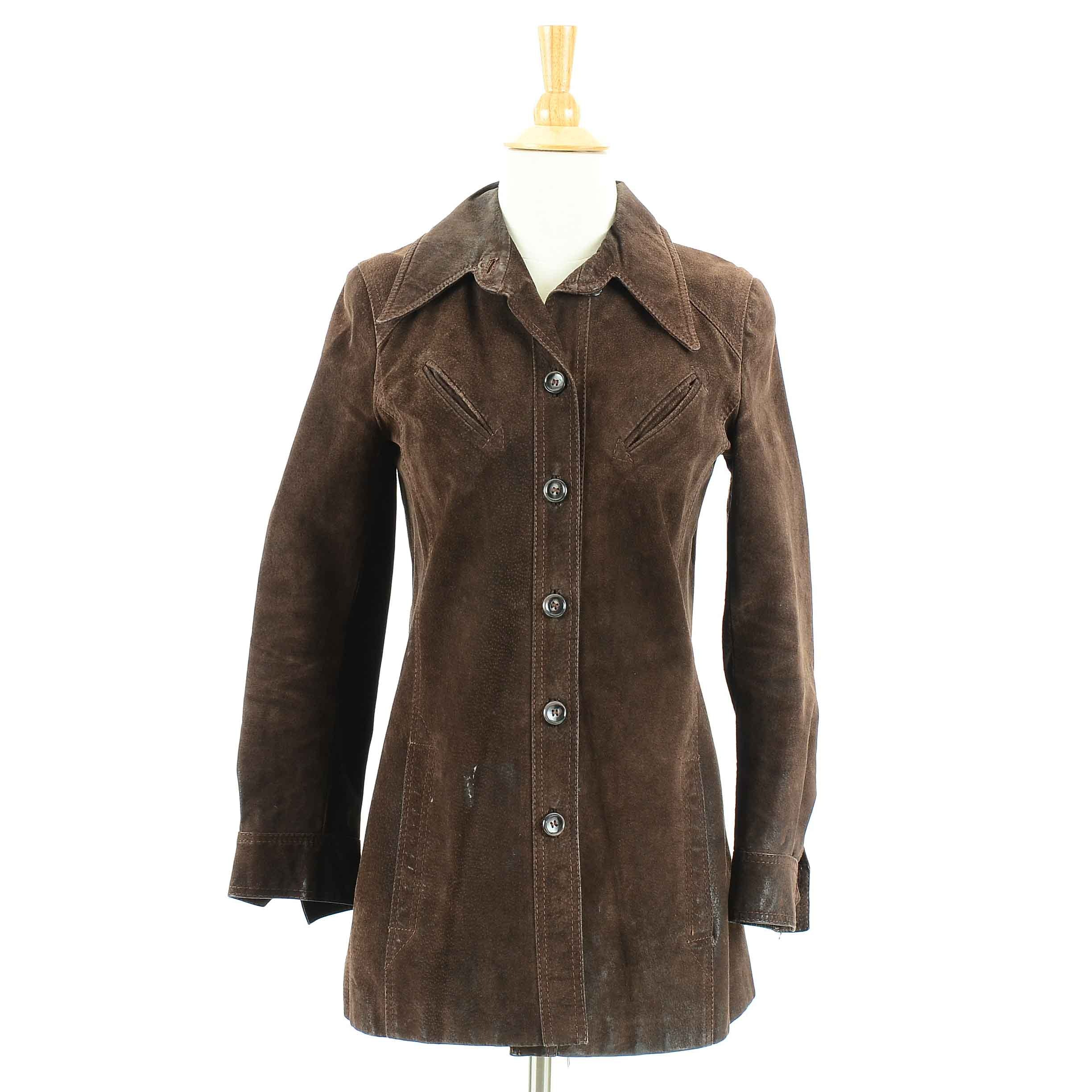 Women's 1970s Vintage Brown Suede Jacket