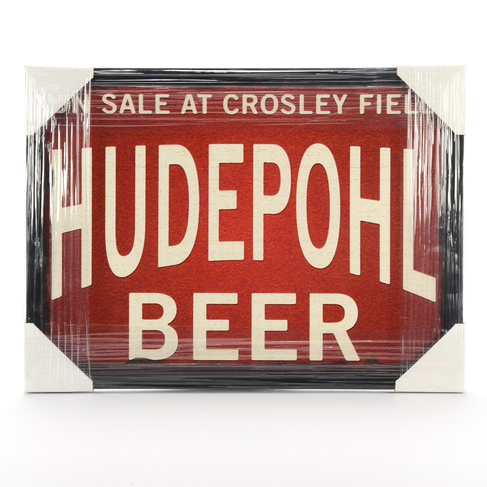 Contemporary Hudepohl and Crosley Field Framed Display