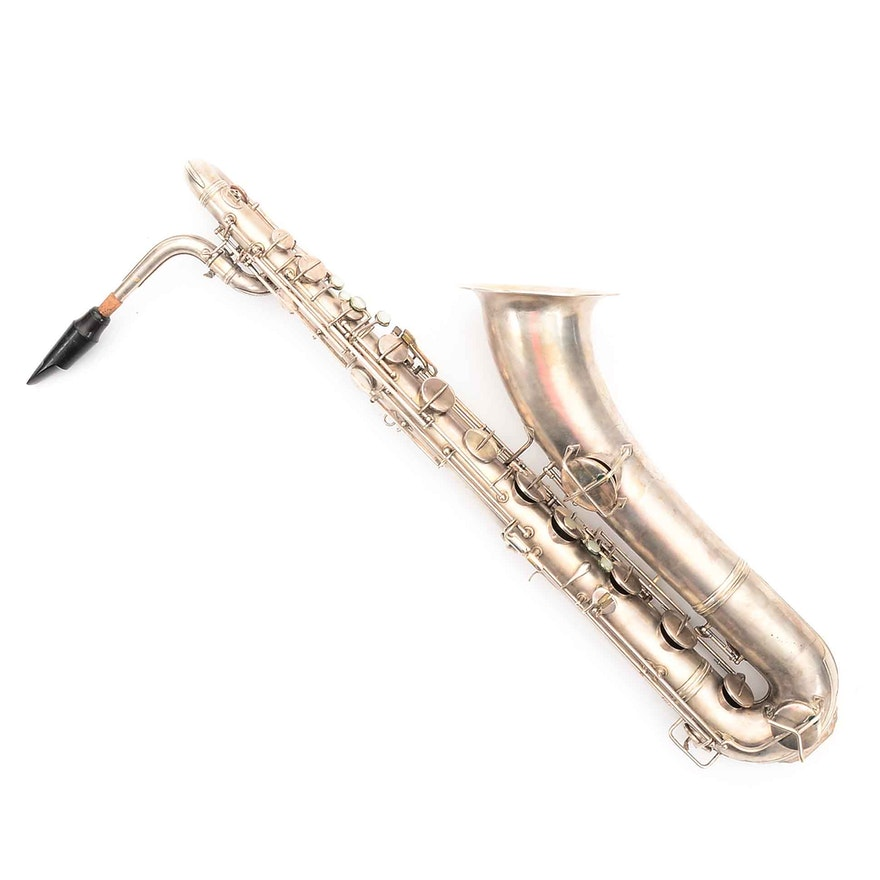 Circa 1914 Conn New Wonder Series Baritone Saxophone with Case