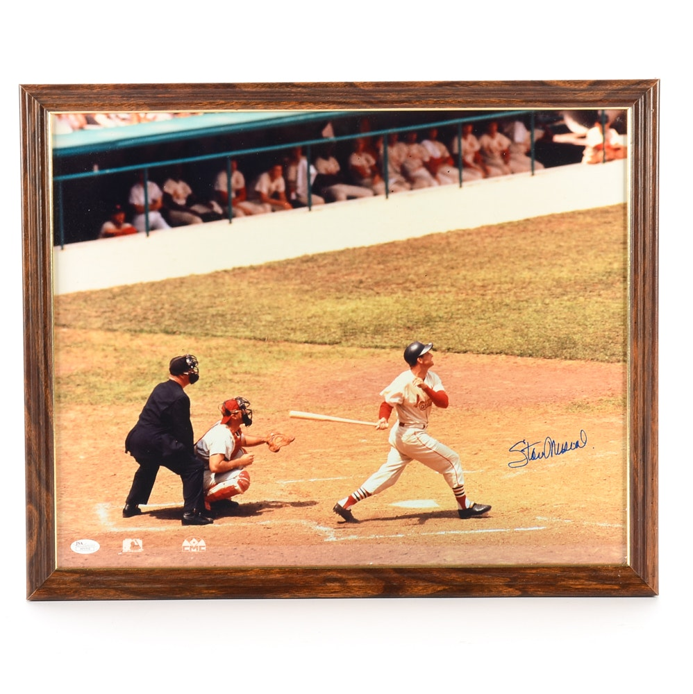 Stan Musial St. Louis Cardinals Signed Framed Display JSA COA