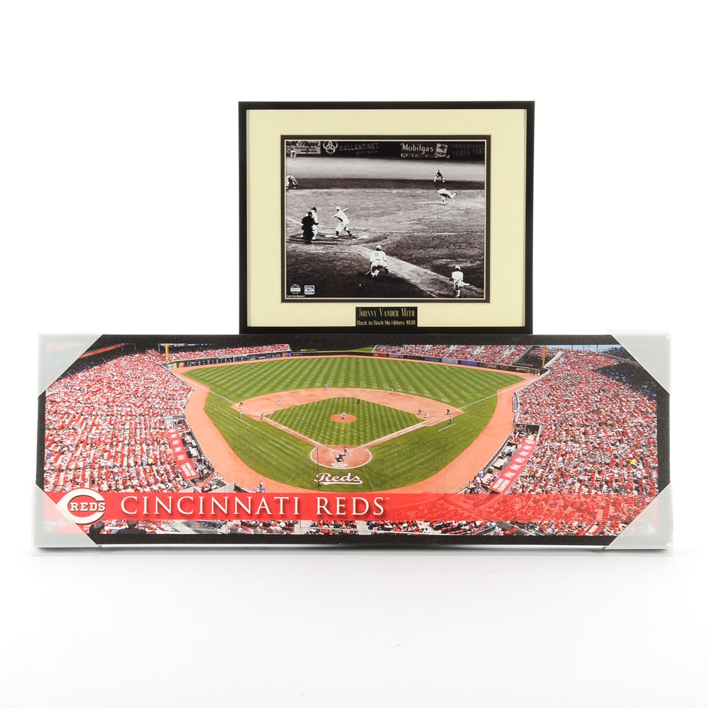 Johnny Vander Meer Photo and Great American Ball Park Display