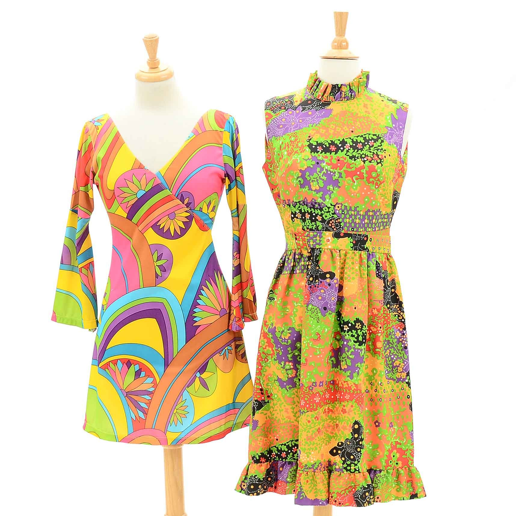 Vintage 1960s Day Glo Dresses