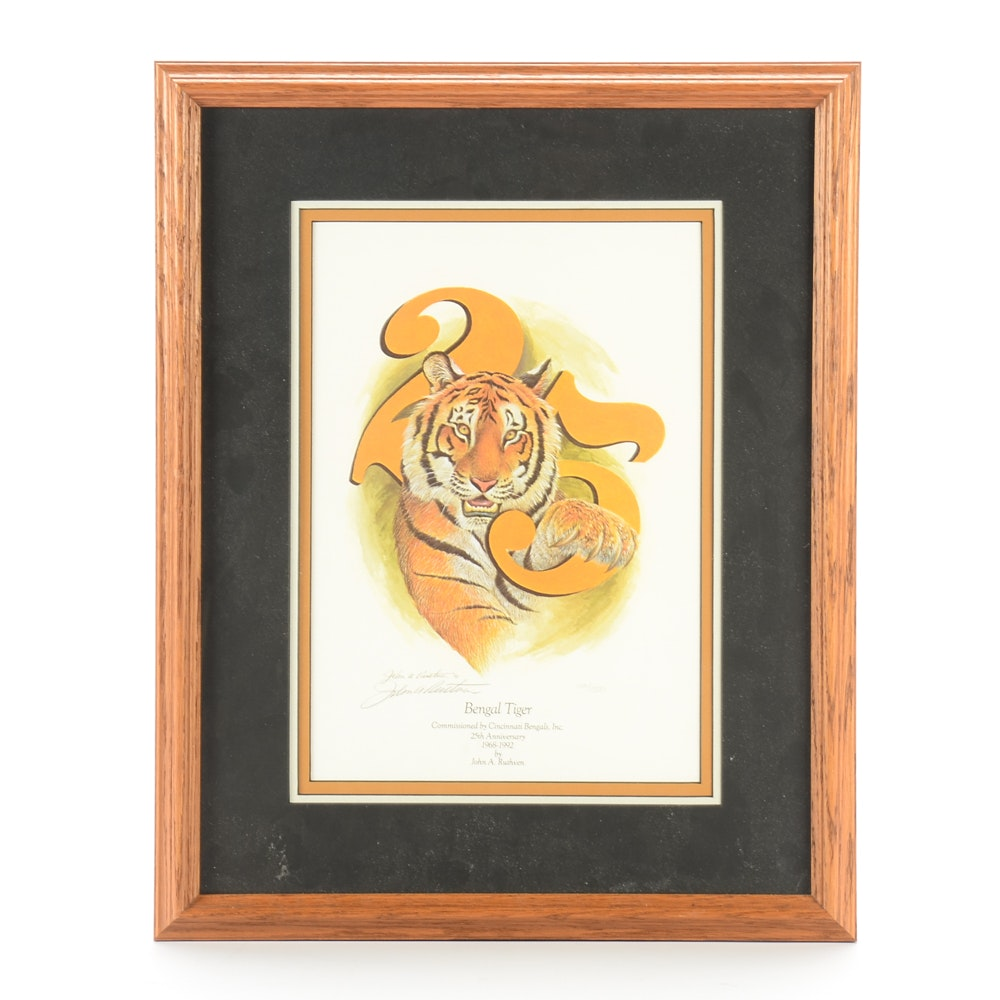 Ruthven Signed Cincinnati Bengals Print