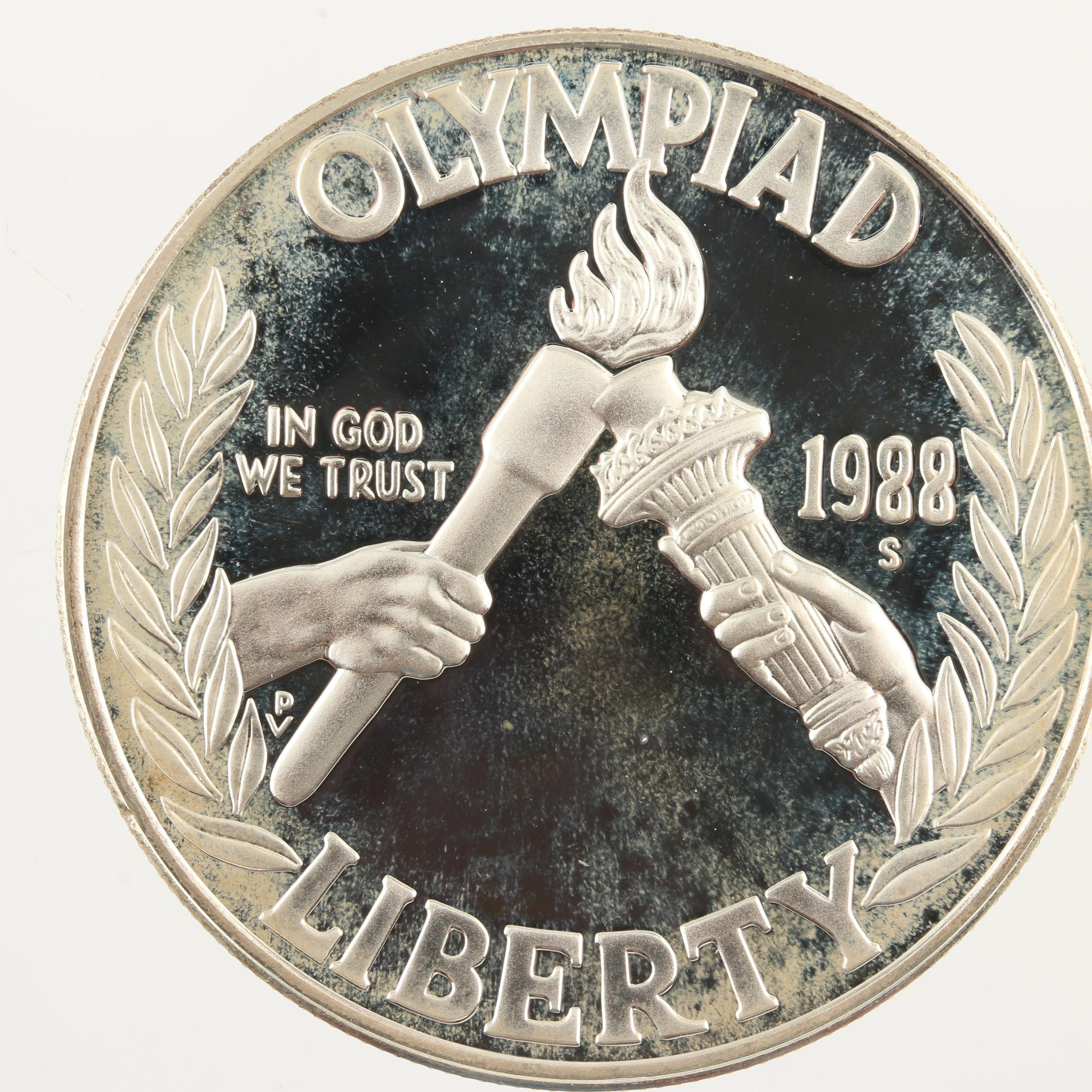 1988-S Olympics Commemorative Proof Silver Dollar