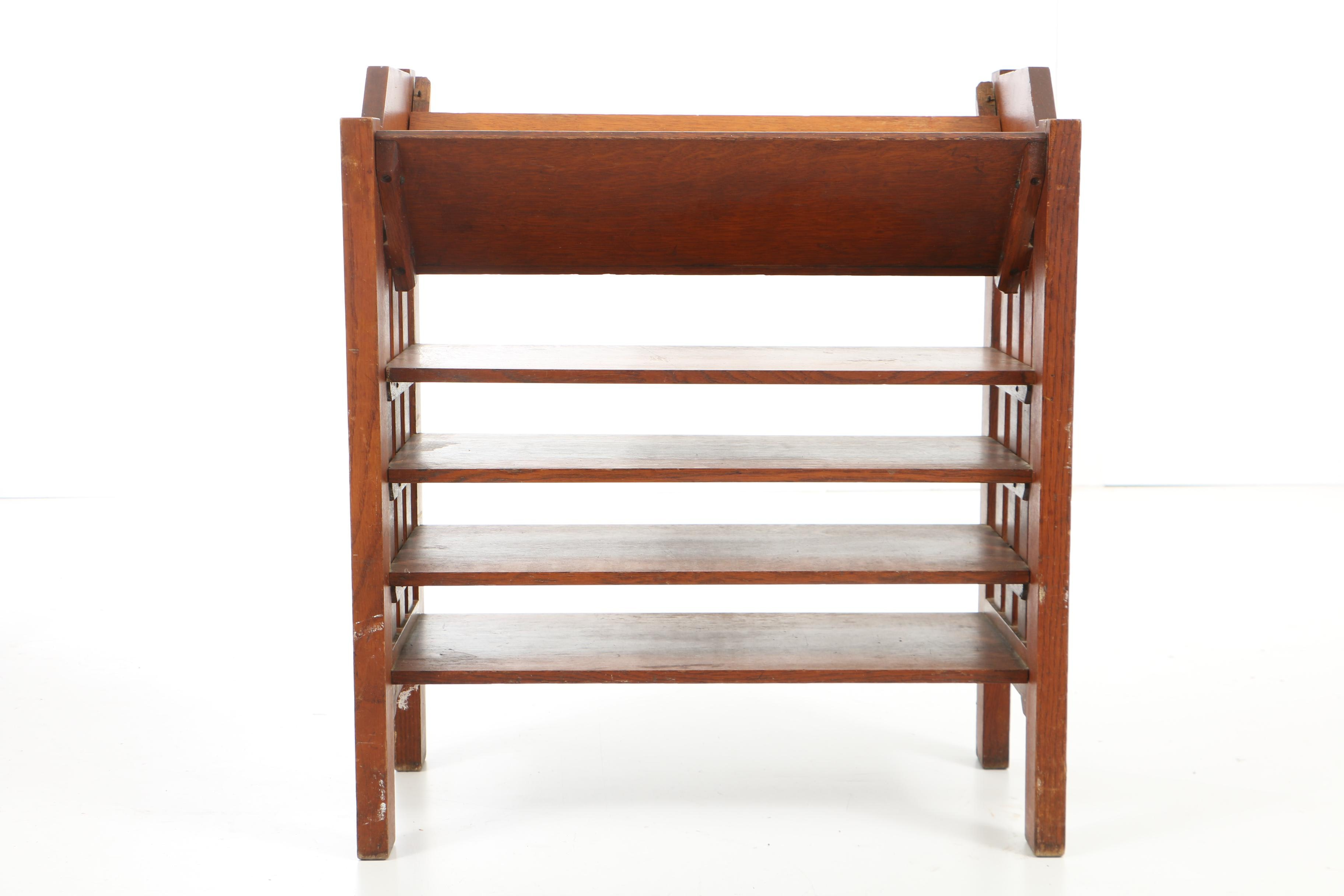 Early 20th Century Arts and Crafts Oak Book Trough Stand