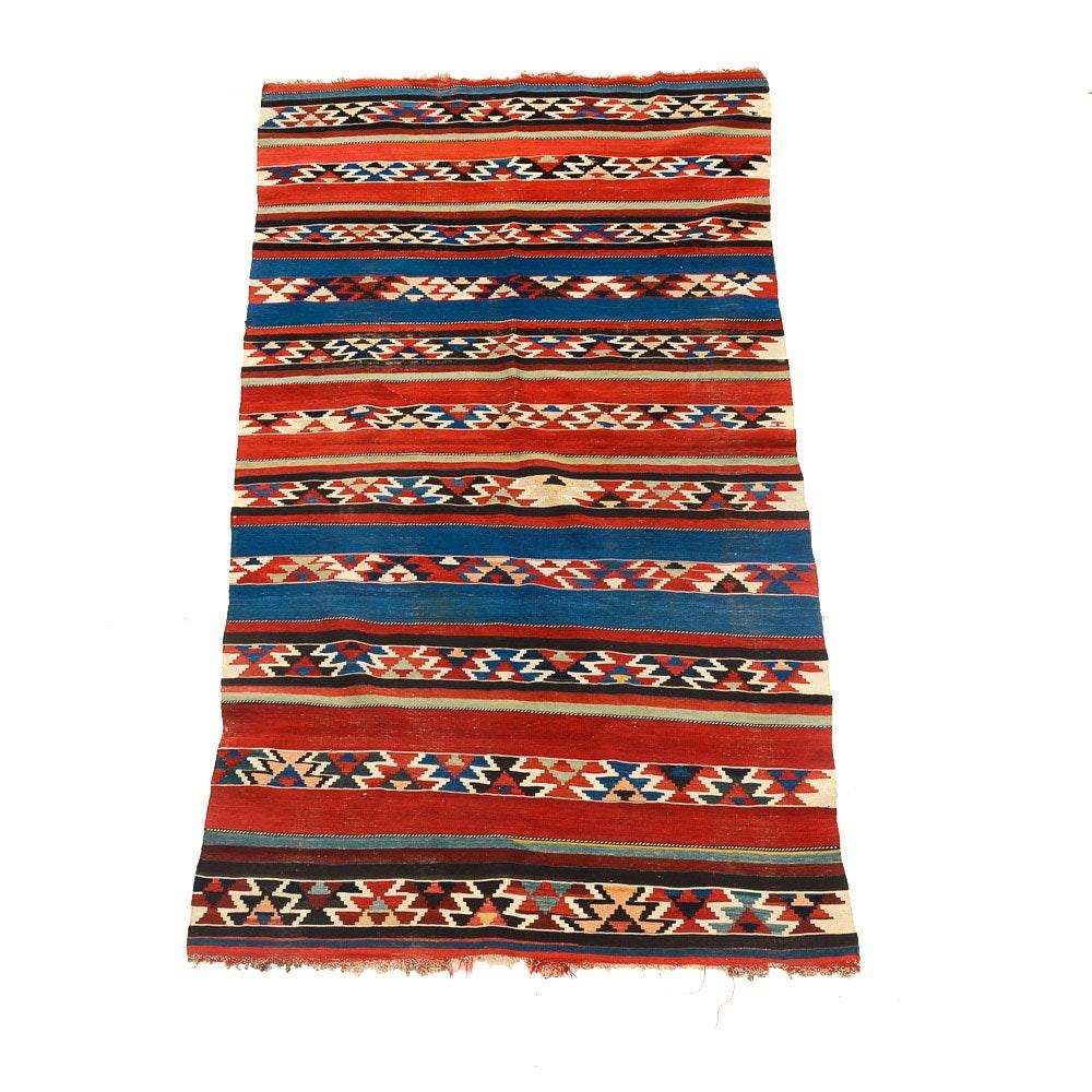 Hand-Woven Kilim Wool Area Rug