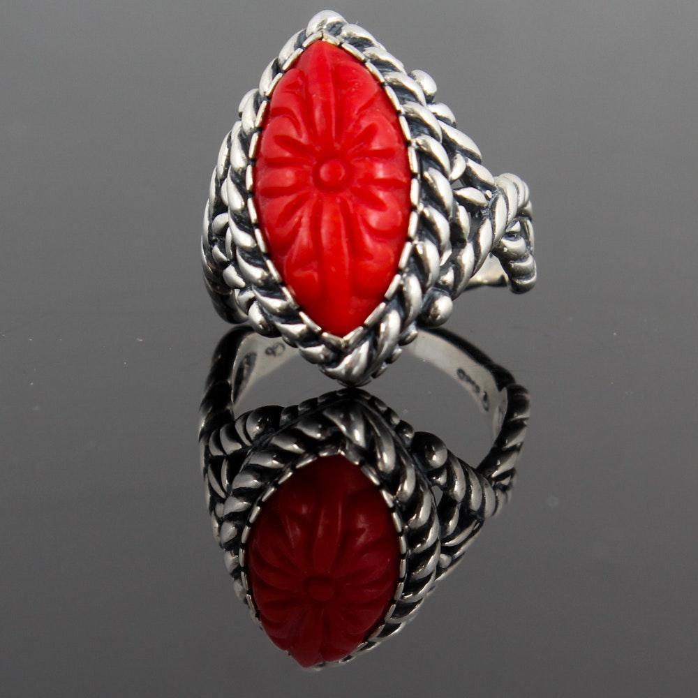 Sterling Silver Imitation Gemstone Ring